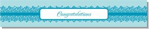 Zebra Print Blue - Personalized Baby Shower Banners