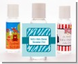 Zebra Print Blue - Personalized Baby Shower Hand Sanitizers Favors thumbnail