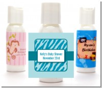 Zebra Print Blue - Personalized Baby Shower Lotion Favors