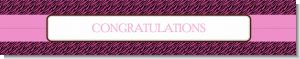 Zebra Print Pink & Black - Personalized Birthday Party Banners