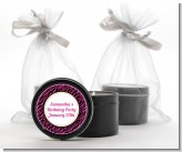 Zebra Print Pink & Black - Birthday Party Black Candle Tin Favors