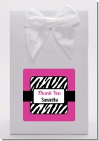 Zebra Print Pink & Black - Birthday Party Goodie Bags