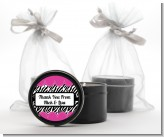 Zebra Print Pink - Birthday Party Black Candle Tin Favors