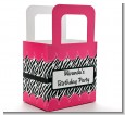 Zebra Print Pink - Personalized Birthday Party Favor Boxes thumbnail