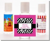 Zebra Print Pink - Personalized Birthday Party Hand Sanitizers Favors