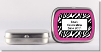 Zebra Print Pink - Personalized Birthday Party Mint Tins