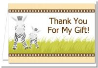 Zebra - Baby Shower Thank You Cards