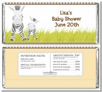 Zebra - Personalized Baby Shower Candy Bar Wrappers