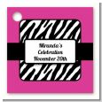Zebra Print Pink - Personalized Birthday Party Card Stock Favor Tags thumbnail