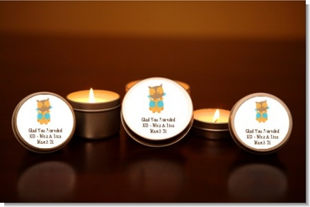 Owls | Gemini Horoscope - Baby Shower Candle Favors
