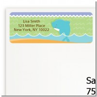 Dolphin | Aquarius Horoscope - Baby Shower Return Address Labels