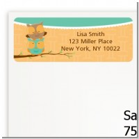 Owls | Gemini Horoscope - Baby Shower Return Address Labels