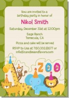 Zoo Crew - Birthday Party Invitations
