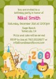 Zoo Crew - Birthday Party Invitations thumbnail