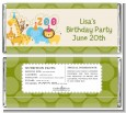 Zoo Crew - Personalized Birthday Party Candy Bar Wrappers thumbnail