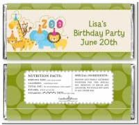 Zoo Crew - Personalized Birthday Party Candy Bar Wrappers