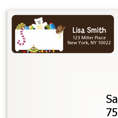 Toy Chest - Birthday Party Return Address Labels
