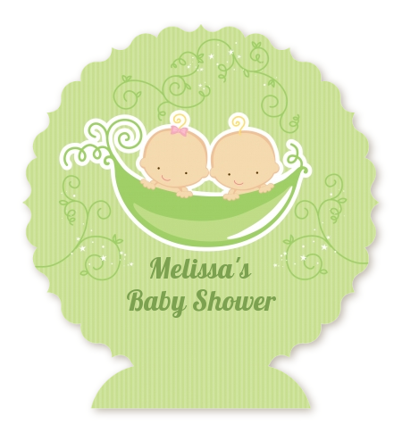 twins two peas in a pod caucasian baby shower table centerpiece baby
