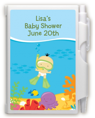 under the sea asian baby snorkeling notebook favor baby shower