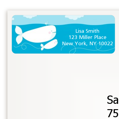 Whale Of A Good Time - Birthday Party Return Address Labels