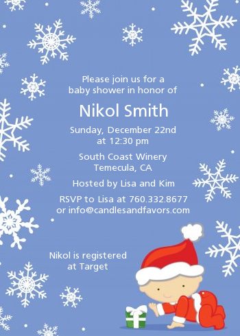Christmas Invitation Background Png.Christmas Baby Snowflakes Baby Shower Invitations