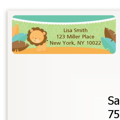 Lion | Leo Horoscope - Baby Shower Return Address Labels
