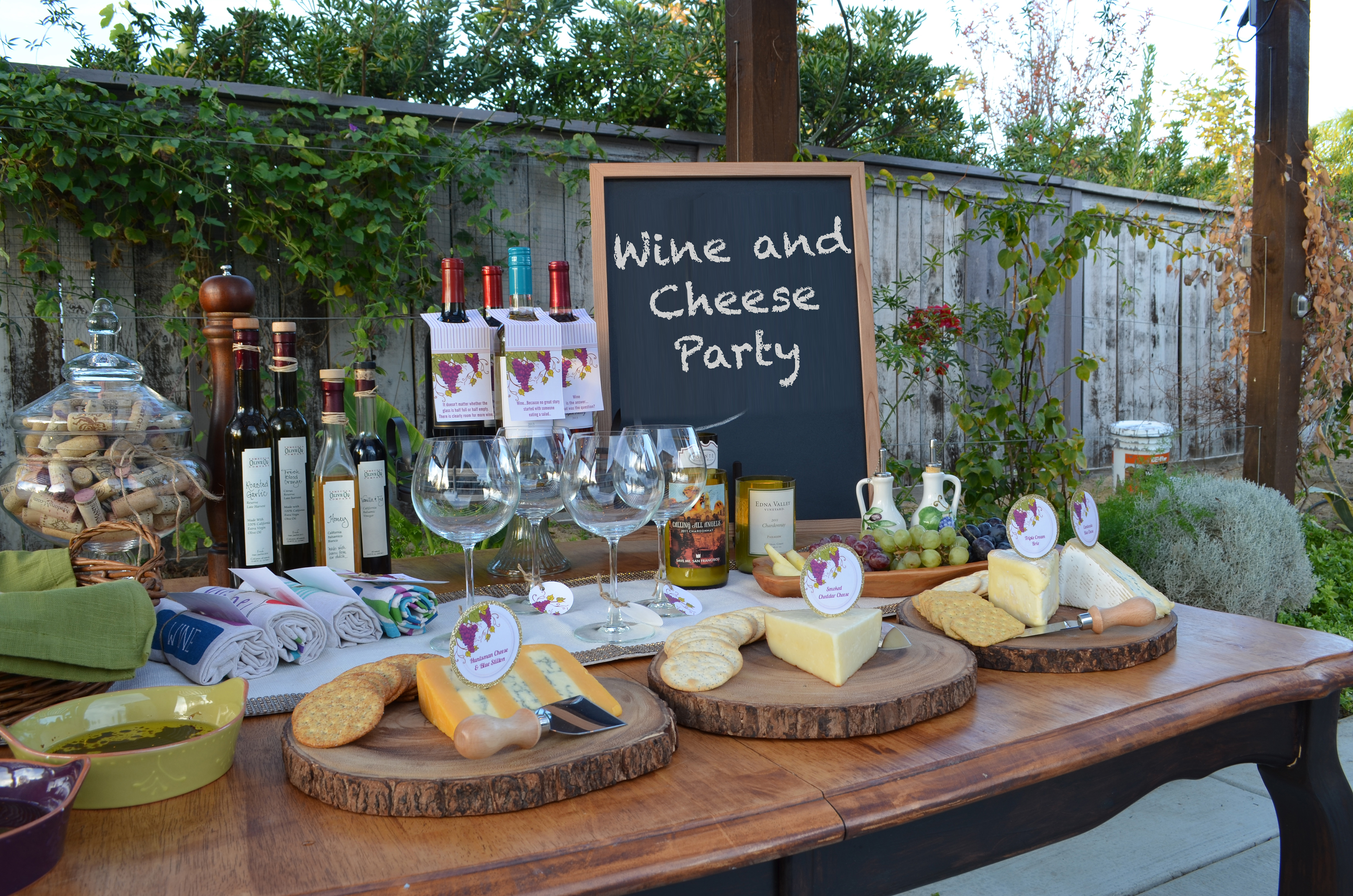 wine and cheese party wine amp cheese candles and favors 12121