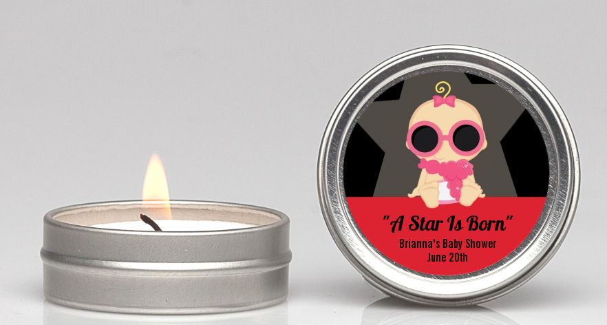 A Star Is Born Hollywood ® - Baby Shower Candle Favors Caucasian