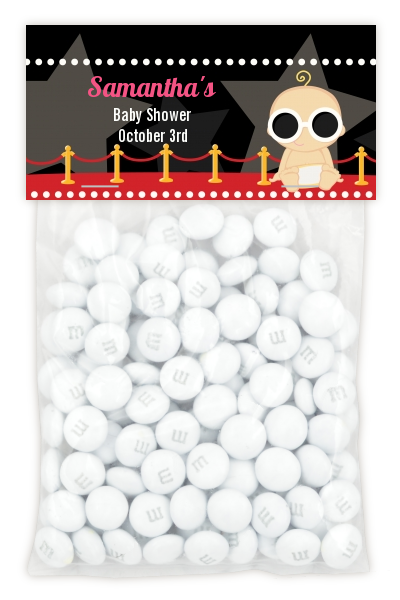 A Star Is Born Hollywood ® - Custom Baby Shower Treat Bag Topper Blonde Hair