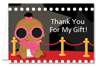 A Star Is Born Hollywood ® - Baby Shower Thank You Cards Caucasian Boy