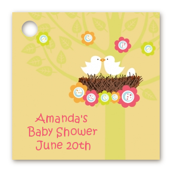 Bird's Nest - Personalized Baby Shower Card Stock Favor Tags