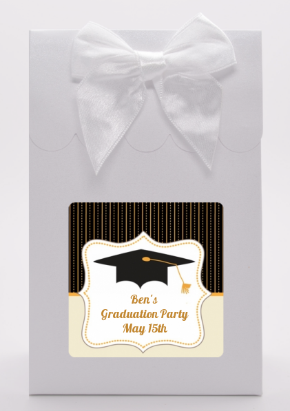 Black & Gold - Graduation Party Goodie Bags