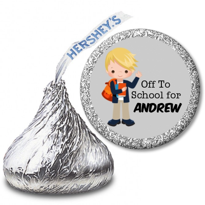 Boy Student - Hershey Kiss School Sticker Labels Option 1