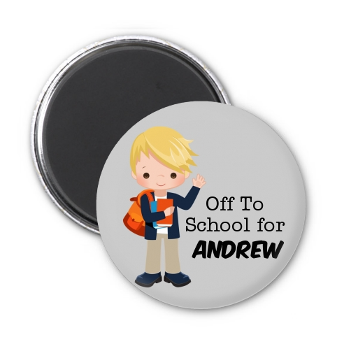 Boy Student - Personalized School Magnet Favors Option 1