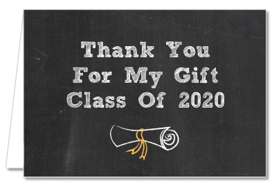 Chalkboard Celebration - Graduation Party Thank You Cards