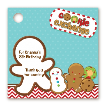 Cookie Exchange - Personalized Christmas Card Stock Favor Tags