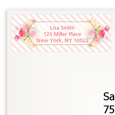 Fun to be One - 1st Birthday Girl - Birthday Party Return Address Labels