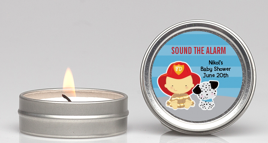 Future Firefighter - Baby Shower Candle Favors Caucasian