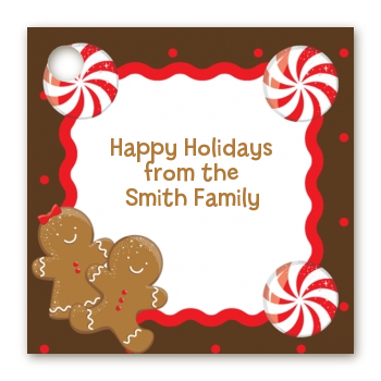 Gingerbread Party - Personalized Christmas Card Stock Favor Tags