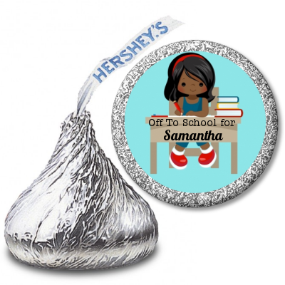 Girl Student - Hershey Kiss School Sticker Labels Option 1