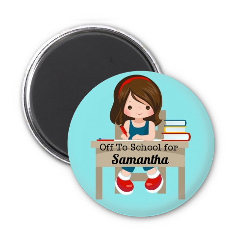 Girl Student - Personalized School Magnet Favors Option 1