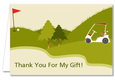 Golf Cart - Retirement Party Thank You Cards