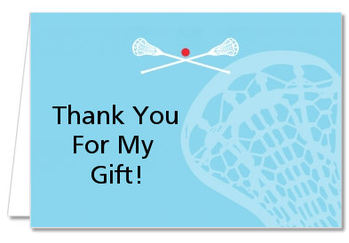 Lacrosse - Birthday Party Thank You Cards