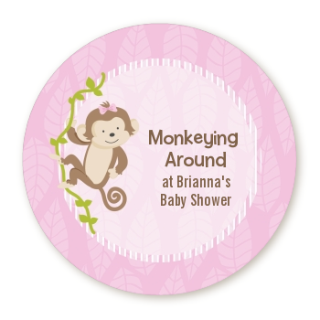 Monkey Girl - Personalized Baby Shower Table Confetti