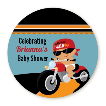 Motorcycle Baby - Personalized Baby Shower Table Confetti Caucasian
