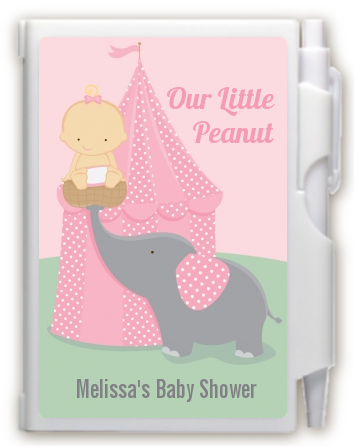 Our Little Peanut Girl - Baby Shower Personalized Notebook Favor