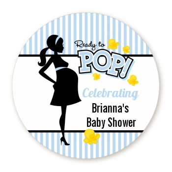 Ready To Pop Blue - Personalized Baby Shower Table Confetti
