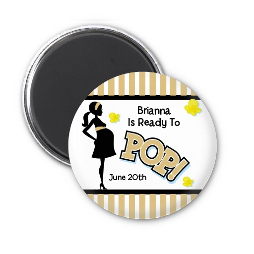 Ready To Pop ® - Personalized Baby Shower Magnet Favors Option 1