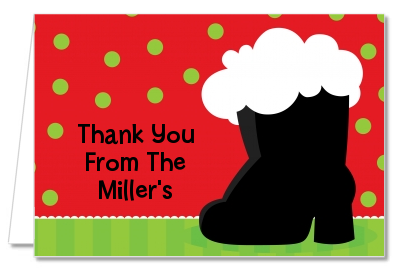 Santa's Boot - Christmas Thank You Cards