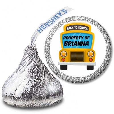 School Bus - Hershey Kiss School Sticker Labels